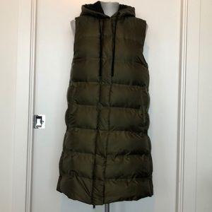 Zara long puffer vest